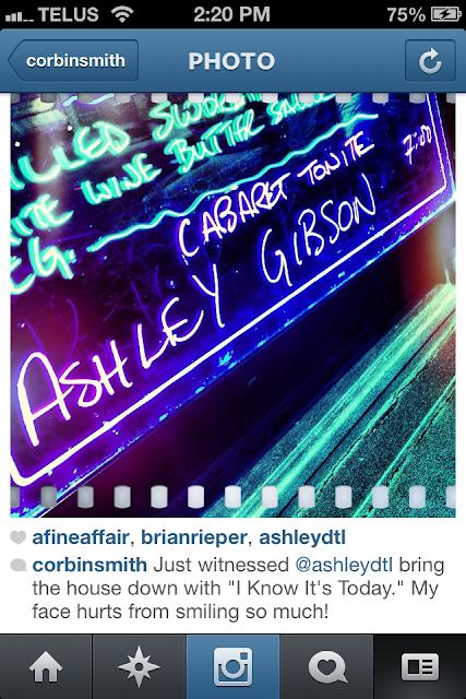 Ashley Gibson, cabaret, Toronto