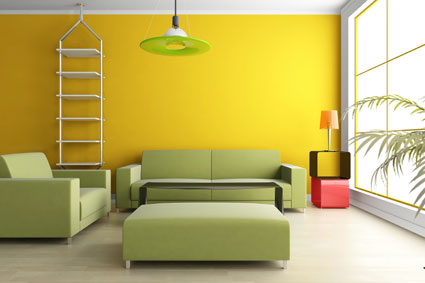 Amarillo y verde en la decoraci n ideas para decorar for Pareti colorate particolari