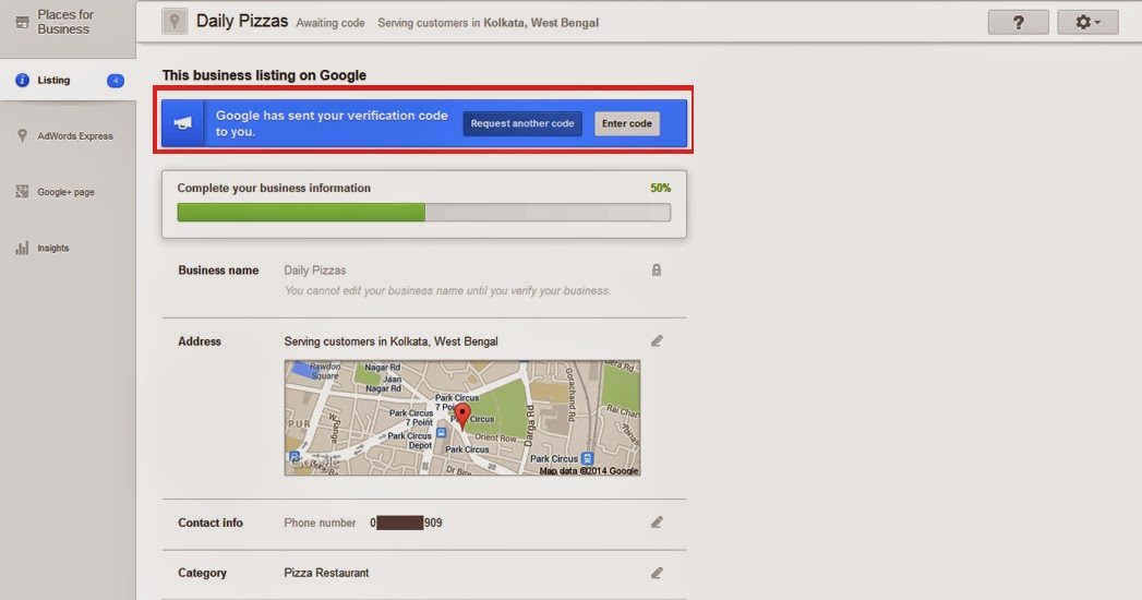 google places small business local SEO