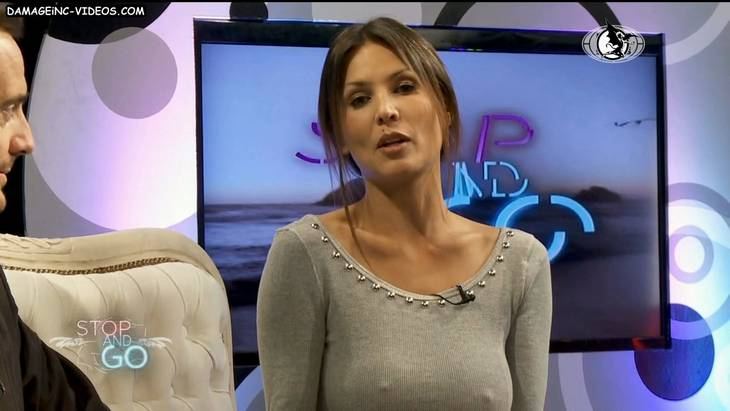 Ursula Vargues hard nipples in TV show HD video