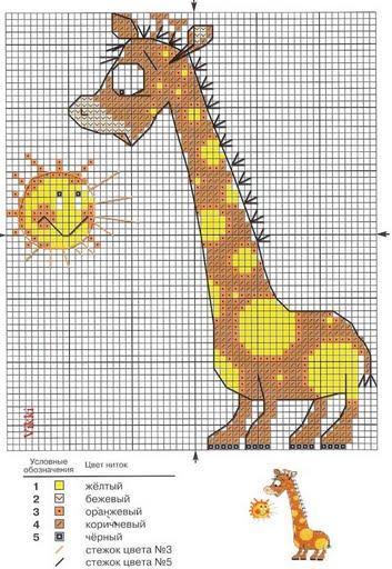 Schemi punto croce schemi a punto croce per bambini for Giraffa punto croce