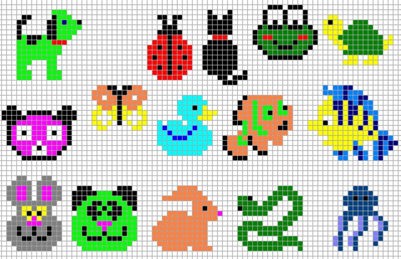 hama animals on bead animals hama