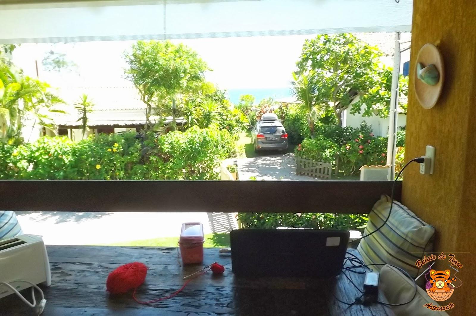 croche em Floripa + vista maravilhosa do mar = inspiração!
