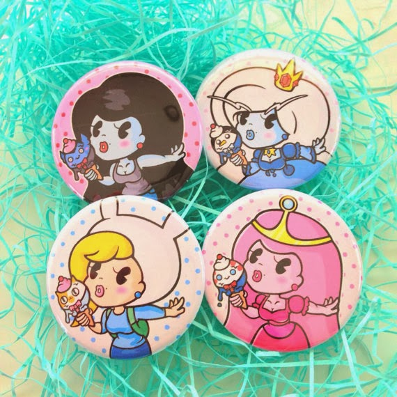 Princess pins by SharodactylArt