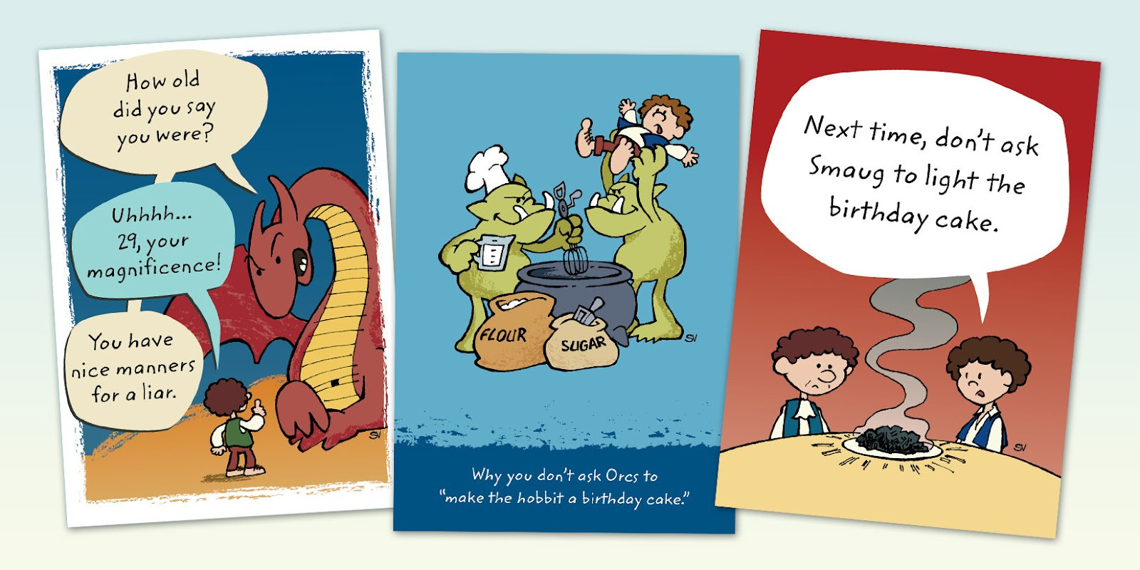 Art Samples Hobbit Day Birthday Cards