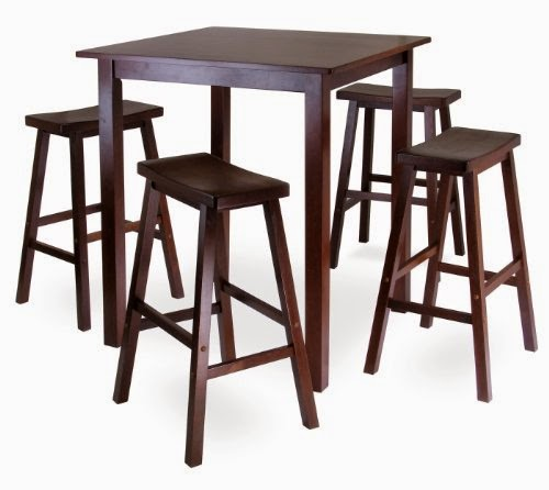 winsomes parkland 5piece square highpub table