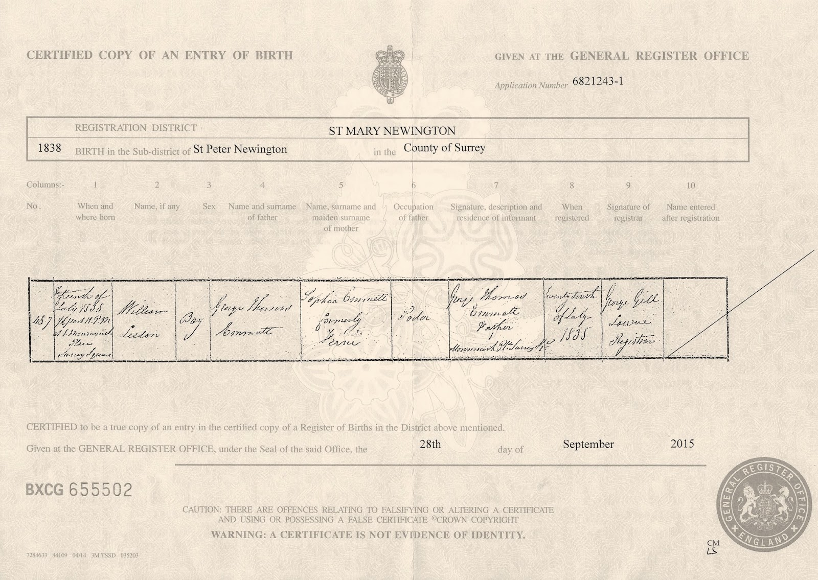 Yesterdays papers who was captain jack 3 william emmett birth certificate aiddatafo Choice Image