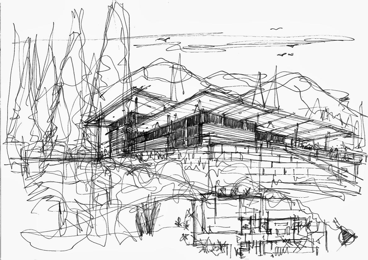 Prifti aleksander architecte esquisses et croquis d 39 tude for Esquisse architecture