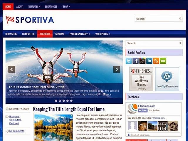 Sportiva - Free Wordpress Theme