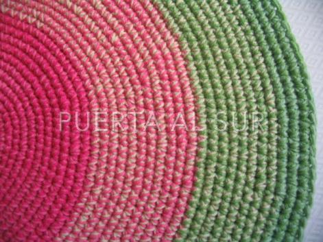 Puerta al sur alfombras tejidas a crochet dando color - Alfombras redondas ...