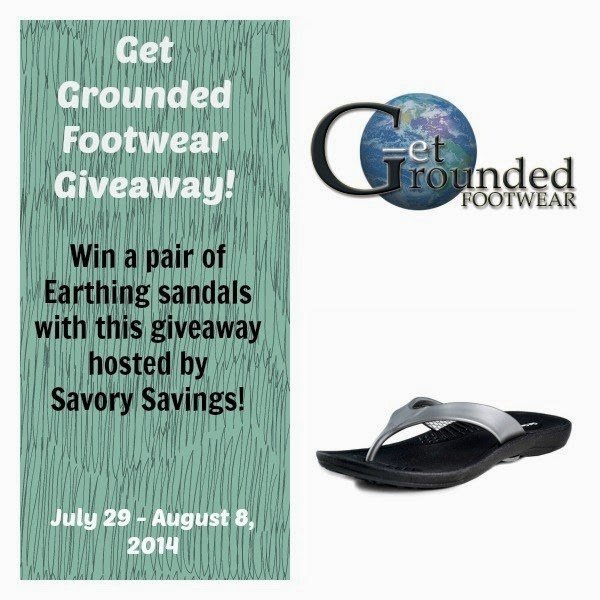 Get Grounded Earthing Sandals Giveaway July 29 - August 8