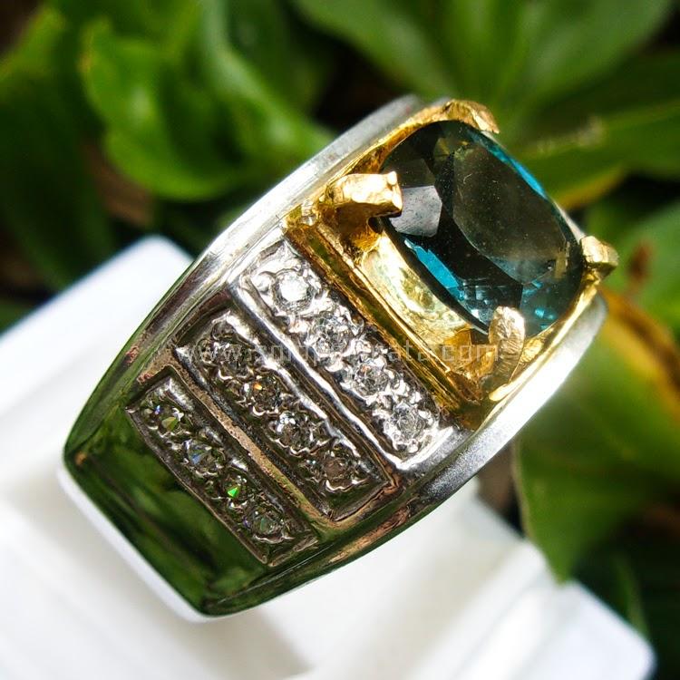 Cincin Batu Permata Swis Blue Topas - SP518