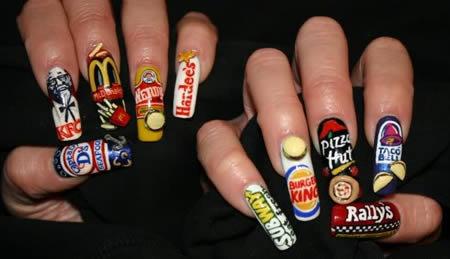 Νύχια: Σχεδιά στα νύχια από Χαρτί