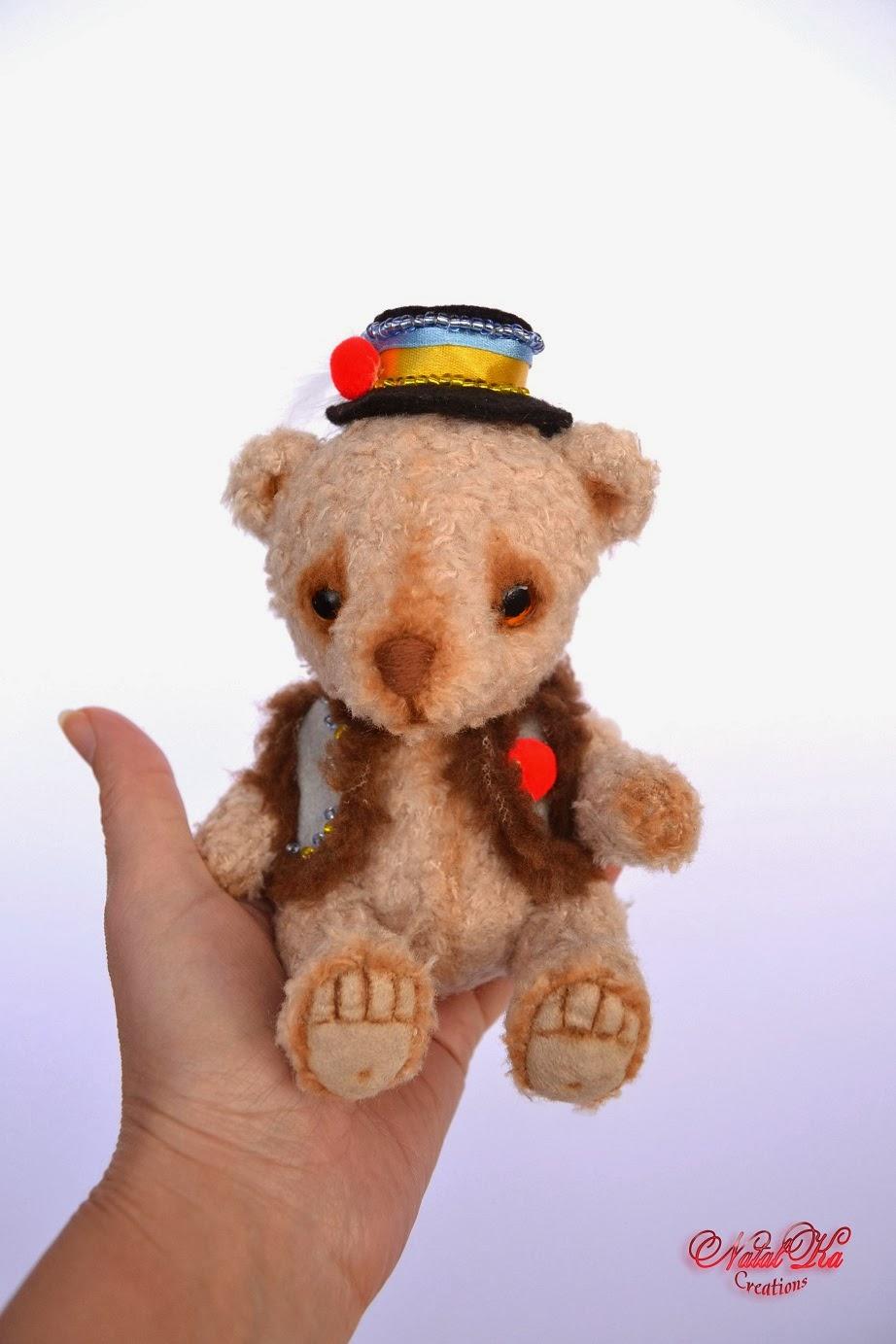 Künstlerbär Teddybär Bär Teddy handgemacht von NatalKa Creations. Artist Teddy Bear ooak handmade by NatalKa Creations