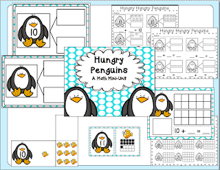 http://www.teacherspayteachers.com/Product/Penguin-Math-Mini-Unit-1033259
