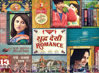 Poster Of Hindi Movie Shuddh Desi Romance (2013) Free Download Full New Hindi Movie Watch Online At worldfree4u.com