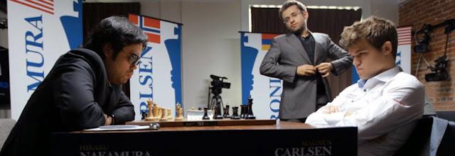 Nakamura, Carlsen y Aronian en la Sinquefield Cup