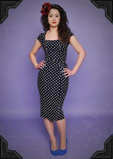 stop staring navy dress