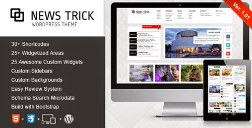 NewsTrick Responsive WordPress Magazine / Blog Version 1.01 free