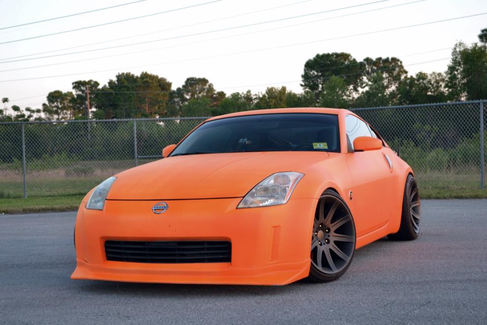 Nissan 350z matte orange