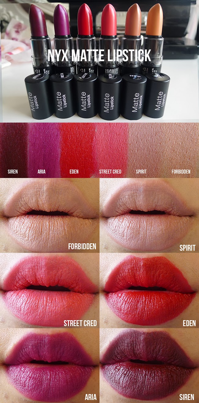 Nyx matte lipstick natural swatch