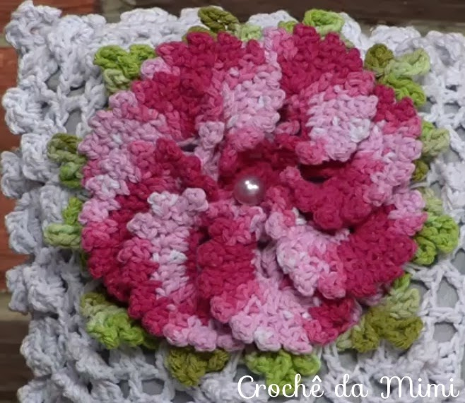 flor de croche suas criações são de encher os olhos
