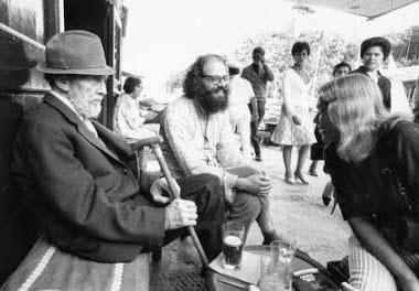 Erza Pound y Allen Gingsberg. Septiembre 1967