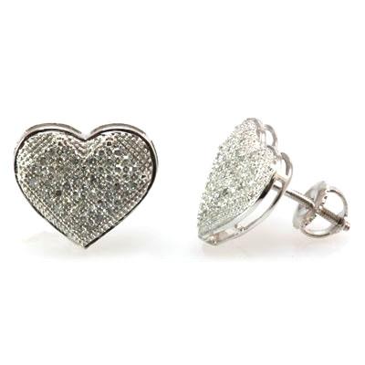 she fashion club screw back diamond earrings. Black Bedroom Furniture Sets. Home Design Ideas