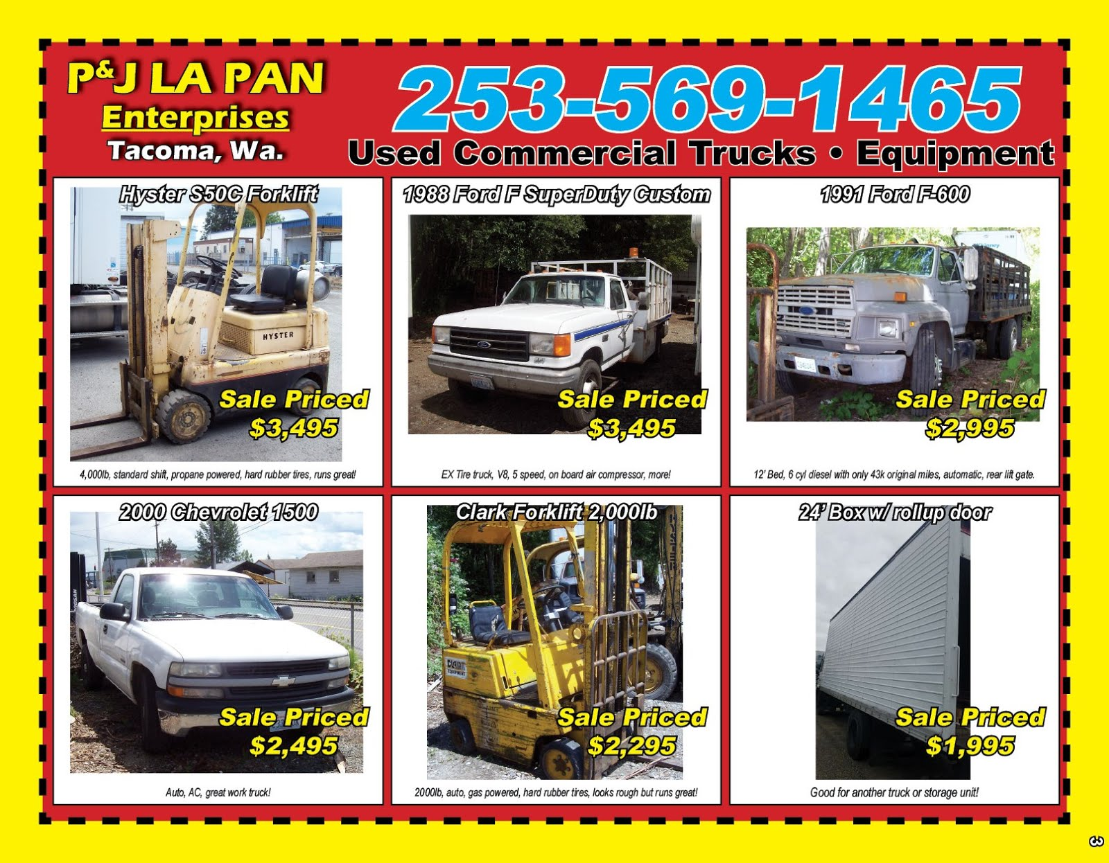 PJ LaPan Enterprises: Used Commercial Equipment & Truck Sales
