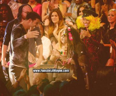 fotos de lil wayne 2 chainz drake y nicki minaj en los premios mtv vma 2012