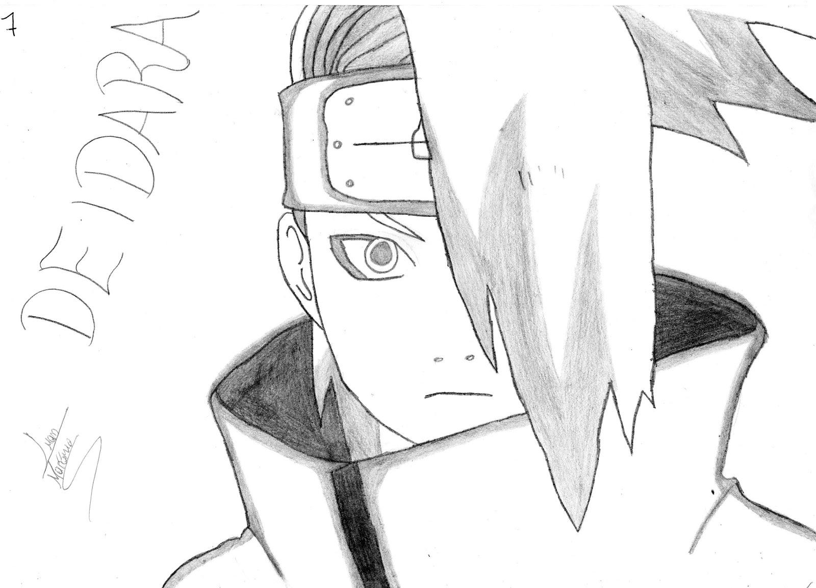 Populares Br Desenhos: Deidara ( Naruto ) DC03