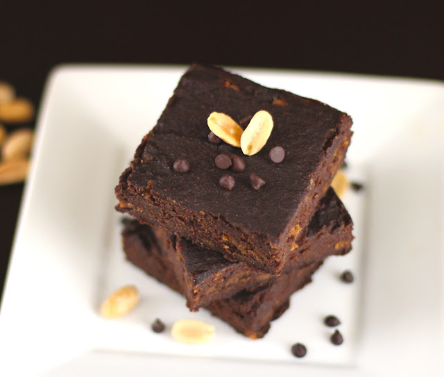 Healthy Peanut Butter Brownies with Peanut Butter Chips