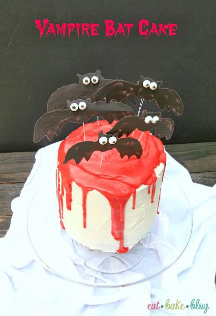 red velvet bats vampire halloween cake