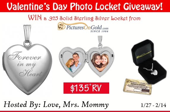 Valentine's Locket Giveaway