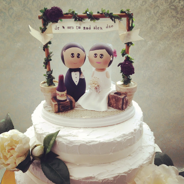 Winery Cake Topper
