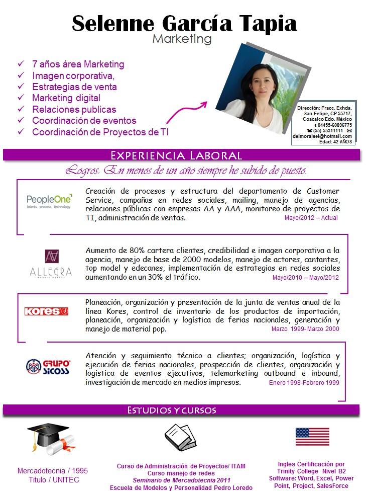 Excelente Ejemplos De Currículum De Agencias Ilustración - Colección ...