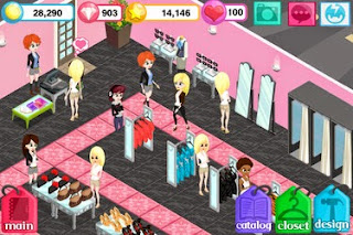 Screenshots of the Fashion Story Pink Punk for Android tablet, phone.