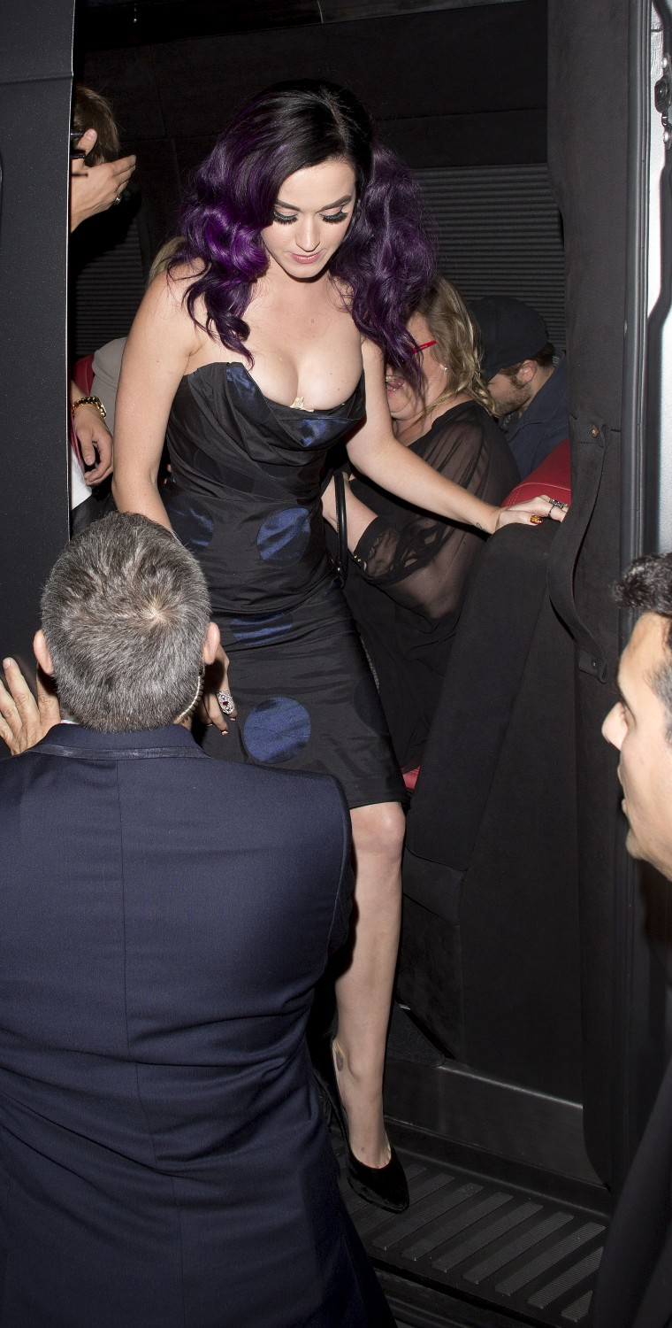 Katy Perry Drops Perky Cleavage in The Event