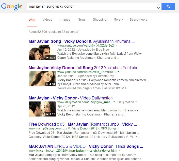 Mar Jayian Song Vicky Donor
