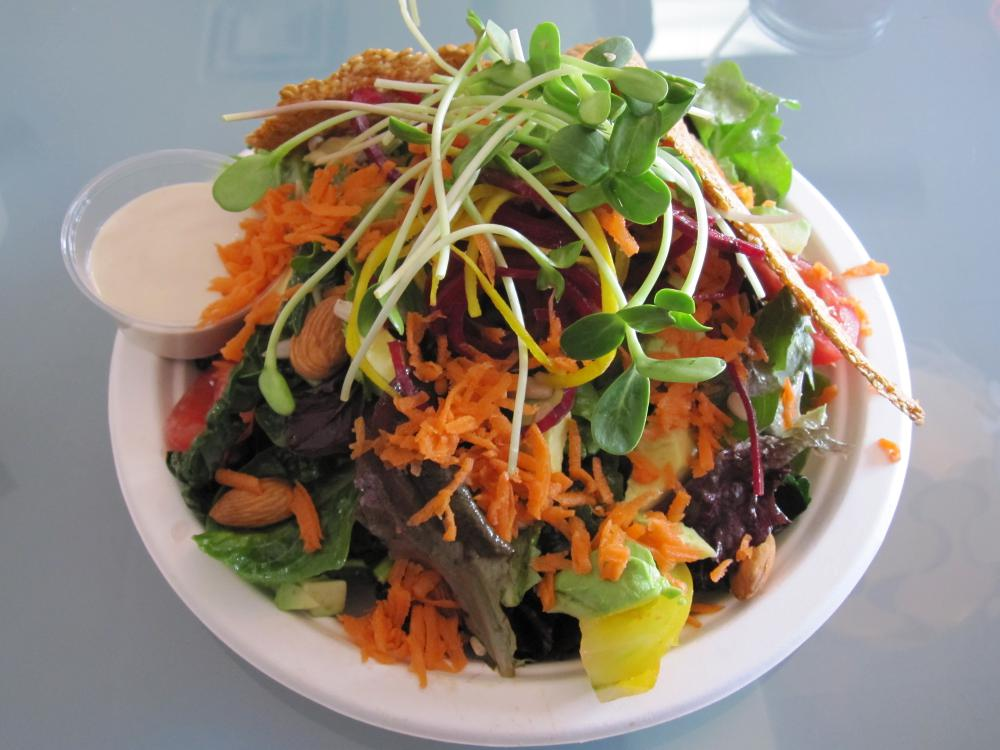 Asian Raw Kale Salad Recipe — Dishmaps