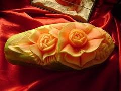 Rosa no mamão