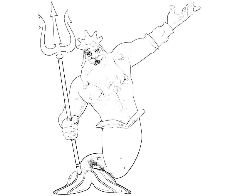 king triton coloring pages - photo#14