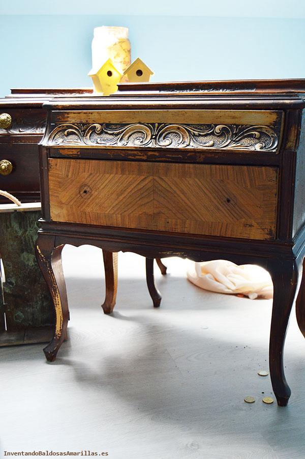 C mo renovar unas mesillas de madera vintage - Mesillas vintage ...