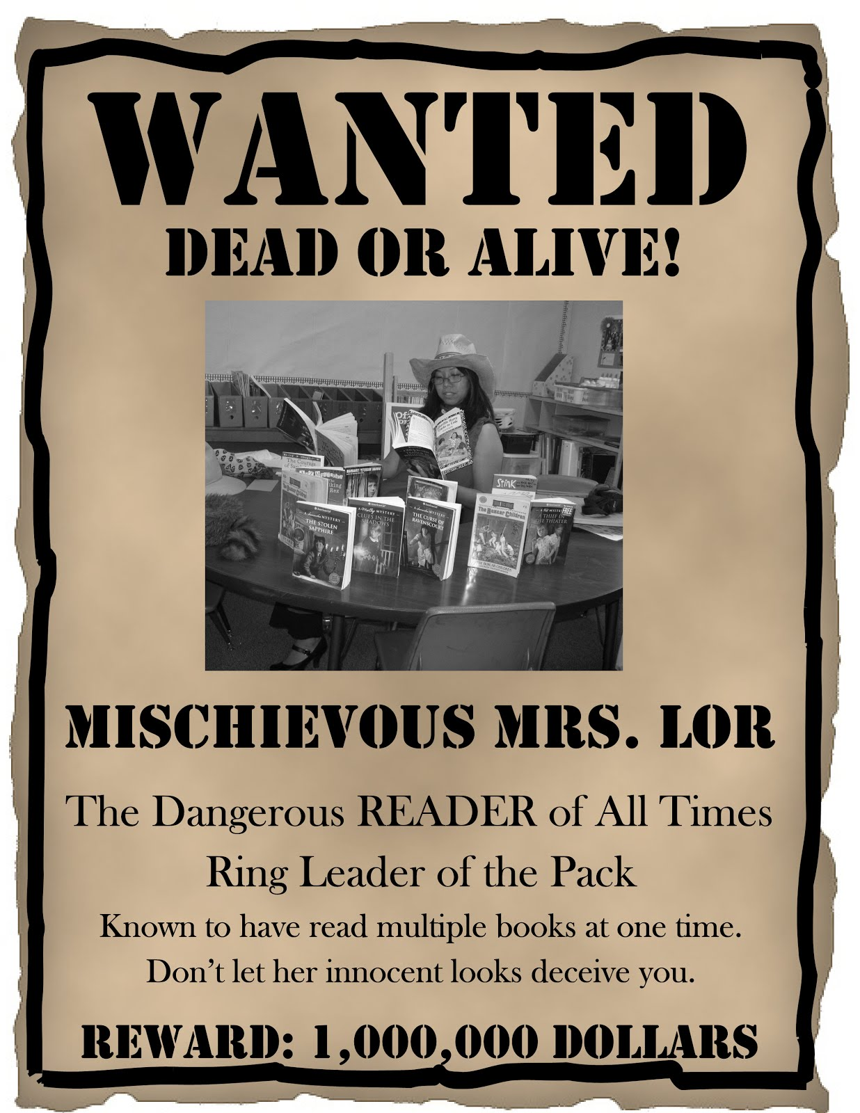 WANTED Bulletin Board Posters (FREE!)  Examples Of Wanted Posters
