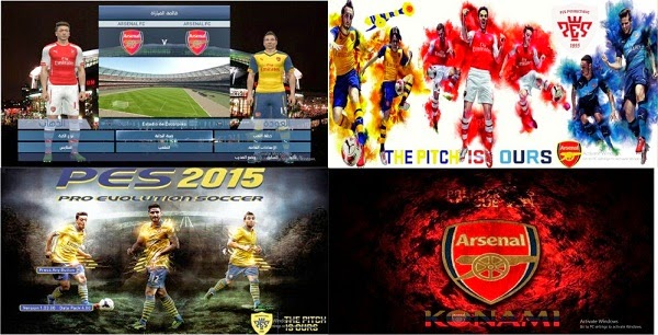 Update PES 2015 Arsenal F.C. Start and Title Screens