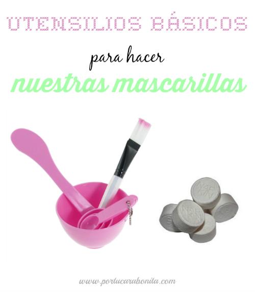 utensilios básicos para elaborar mascarillas