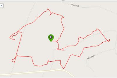 bieg na orientację dłutów azymut pabianice bieganie z mapą po lesie
