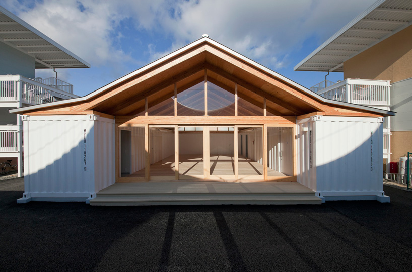 shigeru ban onagawa japan temporary shipping container housing - Shipping Container Homes Canada