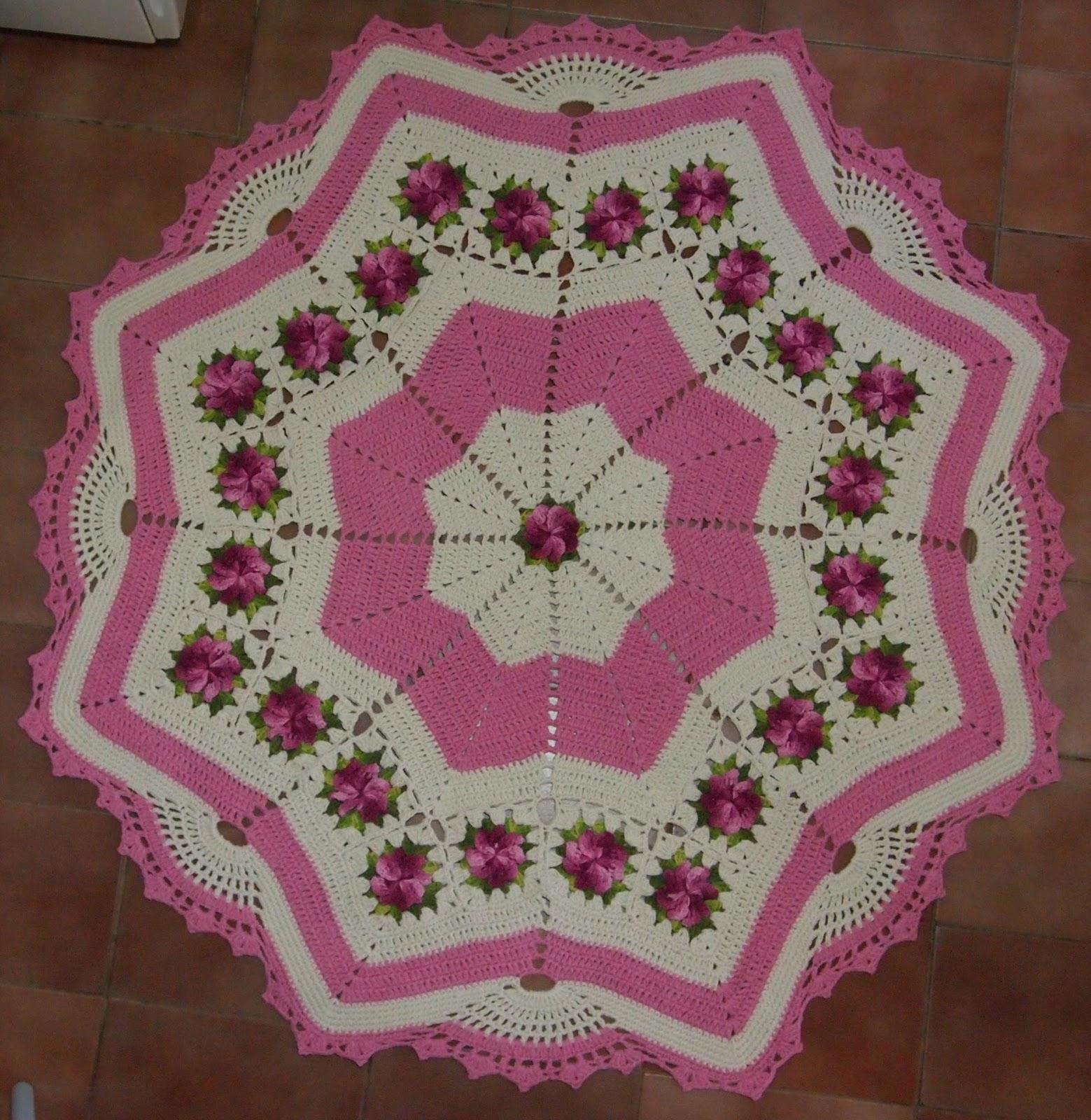 Tapete De Sala Redondo De Croche Com Grafico Dahdit Com  ~ Tapete De Quarto De Barbante E Quarto Laranja E Marrom