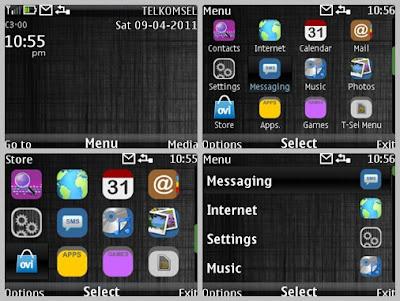 Line dark theme for Nokia C3-00 X2-01 Asha 302 Asha 200 Asha 201